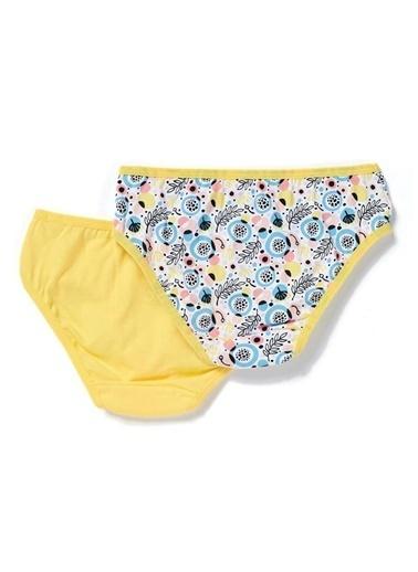 Dagi Yaprak Kız Çocuk 2'Li Slip Sarı